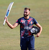 Jack Leaning of Kent acknowledges his teammates after hitting fifty during Kent Spitfires vs Essex Eagles, Vitality Blast T20 Cricket at The Spitfire Ground on 18th September 2020