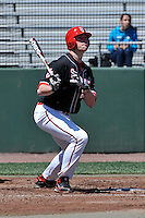 St.John's Red Storm outfielder Rowan Wick (28) during a game against Louisville Cardinals at Jack Kaiser Stadium in Queens, New York;  April 17, 2011.  St. John's defeated Louisville 7-2.  Photo By Tomasso DeRosa/Four Seam Images