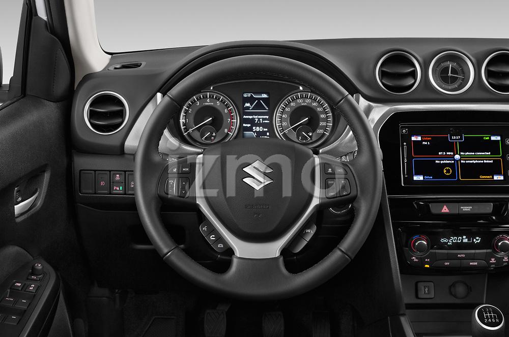 Car pictures of steering wheel view of a 2019 Suzuki Vitara Grand Luxe Xtra 5 Door SUV