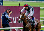 September 15, 2019 : Search for a Song #10, ridden by Chris Hayes, wins the Comer Group International Irish St. Leger Stakes during Irish Champions Weekend Day Two at The Curragh in Curragh, Ireland. Scott Serio/Eclipse Sportswire/CSM