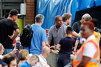 Crystal Palace FC ambassador Mark Bright signs autographs during the pre season friendly match between Crystal Palace and Hertha BSC at Selhurst Park, London, England on 3 August 2019. Photo by Carlton Myrie / PRiME Media Images.