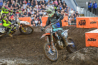 Kyle Hartley (NZ)<br /> 2018 SX Open - Auckland / SX 2<br /> FIM Oceania Supercross Championships<br /> Mt Smart Stadium / Auckland NZ<br /> Saturday Nov 24th 2018<br /> © Sport the library/ Jeff Crow / AME