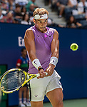 August 31,2019:  Rafael Nadal (ESP) defeated Hyeon Chung (KOR) 6-4, 6-2, at the US Open being played at Billie Jean King National Tennis Center in Flushing, Queens, NY.  ©Jo Becktold/CSM