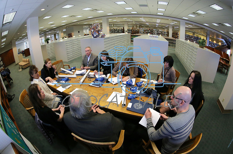 Librarians from the Republic of Belarus tour the Nevada State Library, Archives and Public Records in Carson City, Nev. on Friday, Jan. 27, 2017. The group is traveling the United States as part of a three-week, multi-state tour to learn about the educational, social and economic impact of public libraries in American society.<br /> Photo by Cathleen Allison/Nevada Photo Source