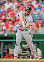 29 May 2016: St. Louis Cardinals first baseman Matt Adams in action against the Washington Nationals at Nationals Park in Washington, DC. The Nationals defeated the Cardinals 10-2 to split their 4-game series. Mandatory Credit: Ed Wolfstein Photo *** RAW (NEF) Image File Available ***