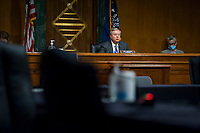 """United States Senator Lindsey Graham (Republican of South  Carolina), Chairman, US Senate Judiciary Committee listens as Professor Russell A. Miller, J.B. Stombock Professor of Law Washington and Lee University School of Law Lexington, VA and Professor ChimËne Keitner, Alfred And Hanna Fromm Professor Of International Law UC Hastings Law San Francisco San Francisco, CA, testify during a US Senate Committee on the Judiciary hearing entitled """"The Foreign Sovereign Immunities Act, Coronavirus, and Addressing China's Culpability"""" in the Dirksen Senate Office Building on Capitol Hill in Washington, DC., Tuesday, June 23, 2020. Credit: Rod Lamkey / CNP/AdMedia"""