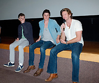 Montreal (Qc) CANADA - August 4 , 2011 - Fantasia Film Festival , Chris Sivertson, director (L) introduce his movie BRAWLER with actors and coproducers :  Marc Senter andNathan Grubbs
