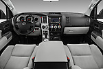 Stock photo of straight dashboard view of 2017 Toyota Sequoia SR5 5 Door SUV Dashboard