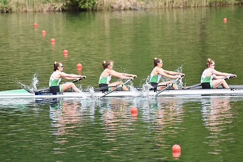 The Women's Four of Emily Hegarty, Eimear Lambe, Aifric Keogh and Fiona Murtagh won their Heat with the quickest qualifying time
