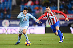 Facundo Roncaglia (l) of RC Celta de Vigo is chased by Fernando Torres of Atletico de Madrid during their La Liga match between Atletico de Madrid and RC Celta de Vigo at the Vicente Calderón Stadium on 12 February 2017 in Madrid, Spain. Photo by Diego Gonzalez Souto / Power Sport Images