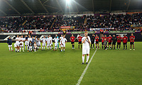 Alan Tate of Swansea Legends speaks to supporters during the Swansea Legends v Manchester United Legends at The Liberty Stadium, Swansea, Wales, UK. Wednesday 09 August 2017
