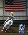 Images from day one of a barrel racing competition at the Heritage Arena, in Fallon, Nev., on Saturday, Oct. 21, 2017. Cathleen Allison/Las Vegas Review-Journal