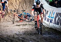 crash in the infamous 'Pit'<br /> <br /> CX Superprestige Zonhoven (BEL) 2019<br /> Elite & U23 mens race