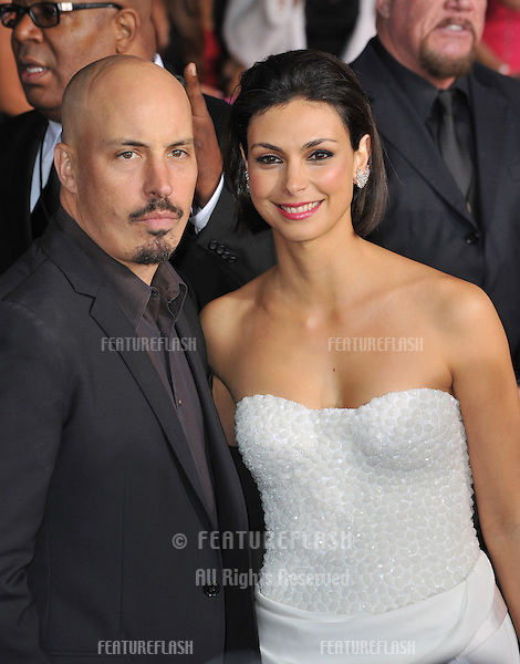 Morena Baccarin & husband Austin Chick at the People's Choice Awards 2013 at the Nokia Theatre L.A. Live..January 9, 2013  Los Angeles, CA.Picture: Paul Smith / Featureflash