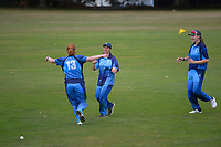 Action from the Wellington women's Maureen Peters T20 competition cricket final between Wellington Collegians and Hutt District at Anderson Park in Wellington, New Zealand on Saturday, 28 March 2021. Photo: Dave Lintott / lintottphoto.co.nz