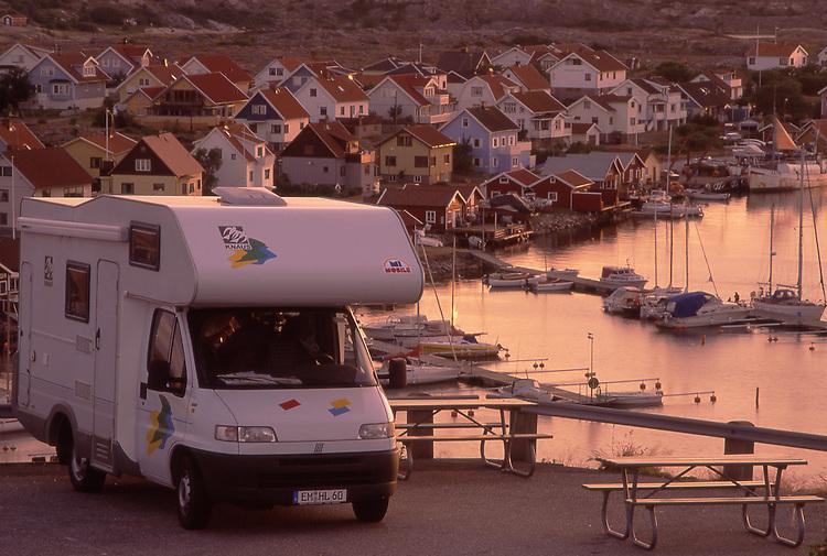 Europe, SWE, Sweden, Bohuslan, Smoegen, Camper, Mobile home, Tourists, Break