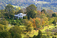 Monticello thomas jefferson aerial Display image Only: Monticello-the historical home of Thomas Jefferson located in Charlottesville, Va. Photo/Andrew Shurtleff