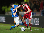 St Johnstone v Aberdeen...23.01.15   SPFL<br /> Chris Kane battles with Andrew Considine<br /> Picture by Graeme Hart.<br /> Copyright Perthshire Picture Agency<br /> Tel: 01738 623350  Mobile: 07990 594431