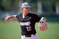 Aidan Meola (22) during the WWBA World Championship at Terry Park on October 8, 2020 in Fort Myers, Florida.  Aidan Meola, a resident of Palm Beach Gardens, Florida who attends Palm Beach Gardens High School, is committed to Oklahoma State.  (Mike Janes/Four Seam Images)