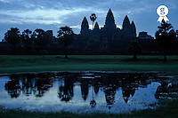 Angkor Wat temples at dawn (Licence this image exclusively with Getty: http://www.gettyimages.com/detail/83154239 )
