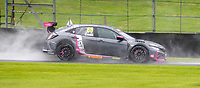23rd August 2020; Oulton Park Circuit, Little Budworth, Cheshire, England; Kwik Fit British Touring Car Championship, Oulton Park, Race Day;  Josh Cook BTC Racing driving a Honda Civic Type R  drove well in wet conditions to win race one