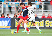 Boyds, MD - Saturday May 07, 2016: Washington Spirit forward Cali Farquharson (17) is marked by Portland Thorns FC defender Meghan Klingenberg (25) during a regular season National Women's Soccer League (NWSL) match at Maureen Hendricks Field, Maryland SoccerPlex. Washington Spirit tied the Portland Thorns 0-0.