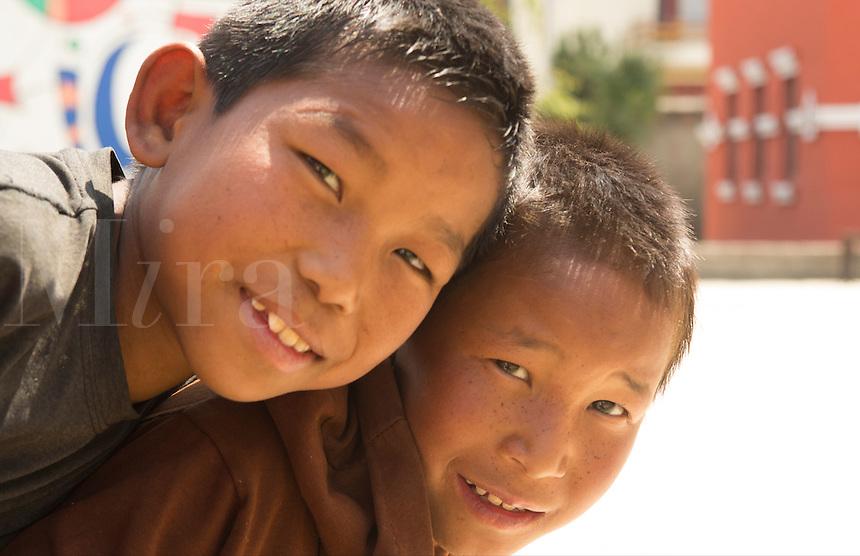 Kathmandu Nepal Nepali children aged 8 at a playground in Nayapati Eastern Kathmandu  1