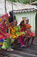 Município de Cametá e população ribeirinha no rio Tocantins. Bloco Bambas da Folia.