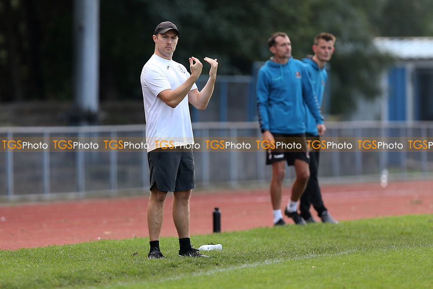 Barkingside assistant manager Tommy Shelts during Barkingside vs AFC Sudbury Reserves, Thurlow Nunn League Football at Cricklefields Stadium on 9th October 2021