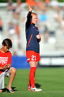 Boyds, MD - Saturday June 25, 2016: Tori Huster prior to a United States National Women's Soccer League (NWSL) match between the Washington Spirit and Sky Blue FC at Maureen Hendricks Field, Maryland SoccerPlex.