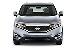 Car photography straight front view of a2015 Nissan Quest SV 5 Door Minivan Front View