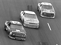 Dale Earnhardt (3) Geaff Bodine (5) Harry Gant (33) Heinz Southern 500 at Darlington Raceway in Darlington, SC on September 3, 1989. (Photo by Brian Cleary/www.bcpix.com)