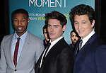 Michael B. Jordan ,  Zac Efron and  Miles Teller attends That Awkward Moment Premiere held at The Premiere House at Regal Cinemas L.A. Live in Los Angeles, California on January 27,2014                                                                               © 2014 Hollywood Press Agency