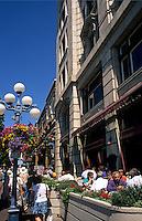 City center and cafes, Victoria, British Columbia, Canada