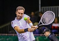 Rotterdam, The Netherlands, 9 Februari 2020, ABNAMRO World Tennis Tournament, Ahoy, Qualyfying round: Mikhail Kukushkin (KAZ)<br /> Photo: www.tennisimages.com
