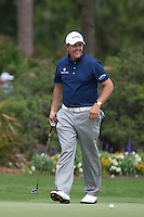 PONTE VEDRA BEACH, FL - MAY 5: Phil Michelson smiles on the 13th green  during his practice round on Tuesday, May 5, 2009 for the Players Championship, beginning on Thursday, at TPC Sawgrass in Ponte Vedra Beach, Florida.