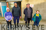 3 generations of the Culloty Family on their farm in Curravough, Tralee. L to r: Sophie, Tommy, Thomas and Liam Culloty.