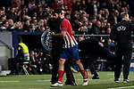 Atletico de Madrid's coach Diego Pablo Simeone and Diego Costa during UEFA Champions League match, Round of 16, 1st leg between Atletico de Madrid and Juventus at Wanda Metropolitano Stadium in Madrid, Spain. February 20, 2019. (ALTERPHOTOS/A. Perez Meca)