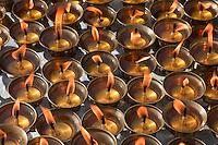 Bodhnath, Nepal.  Candles Awaiting Worshippers at the Stupa.