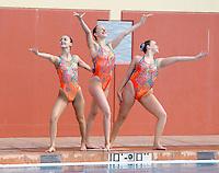 Stanford, CA; Saturday February 11, 2012: Synchronized Swimming, Stanford vs Incarnate Word.<br /> Stanford Trio 1: Anna Boyle, Madison Crocker, Leigh Haldeman.