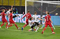 2nd June 2021, Tivoli Stadion, Innsbruck, Austria; International football friendy, Germany versus Denmark;   Goal chance for Mats HUMMELS GER and Thomas MUELLER GER