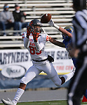Bishop Gorman's Rome Odunze tries to make a catch under pressure from Reed's George Moreno during the first half of the NIAA 4A state championship football game in Reno, Nev., on Saturday, Dec. 2, 2017. Cathleen Allison/Las Vegas Review Journal @NVMomentum