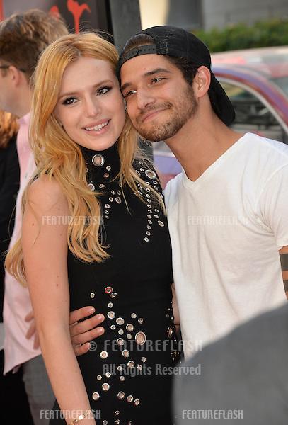 "Bella Thorne & Tyler Posey at the LA Film Festival premiere of MTV's ""Scream"" at the Regal Cinema LA Live. <br /> June 14, 2015  Los Angeles, CA<br /> Picture: Paul Smith / Featureflash"