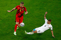 Toby Alderweireld of Belgium and Marco Verratti of Italy compete for the ball during the Uefa Euro 2020 round of 8 football match between Belgium and Italy at football arena in Munich (Germany), July 2nd, 2021. Photo Matteo Ciambelli / Insidefoto