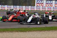 1st November 2020, Imola, Italy; FIA Formula 1 Grand Prix Emilia Romagna, Race Day;  63 George Russell GBR, Williams Racing goes outside 5 Sebastian Vettel GER, Scuderia Ferrari Mission Winnow, 20 Kevin Magnussen DEN, Haas F1 Team
