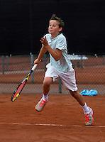 07-08-13, Netherlands, Rotterdam,  TV Victoria, Tennis, NJK 2013, National Junior Tennis Championships 2013, Lars Kuipers   Rik Muller<br /> <br /> <br /> Photo: Henk Koster