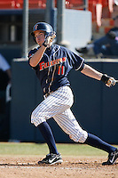 Evan McArthur of the Cal State Fullerton Titans during a game against the Stanford Cardinal at Goodwin Field on February 4, 2007 in Fullerton, California. (Larry Goren/Four Seam Images)