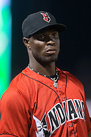 Radhames Liz (37) of the Indianapolis Indians during the game against the Charlotte Knights at BB&T BallPark on June 20, 2015 in Charlotte, North Carolina.  The Knights defeated the Indians 6-5 in 12 innings.  (Brian Westerholt/Four Seam Images)