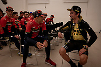 Primoz Roglic (SVK/LottoNL-Jumbo) at the official team presentation of the 102nd Giro d'Italia 2019 at the Grande Partenza in Bologna<br /> <br /> ©kramon