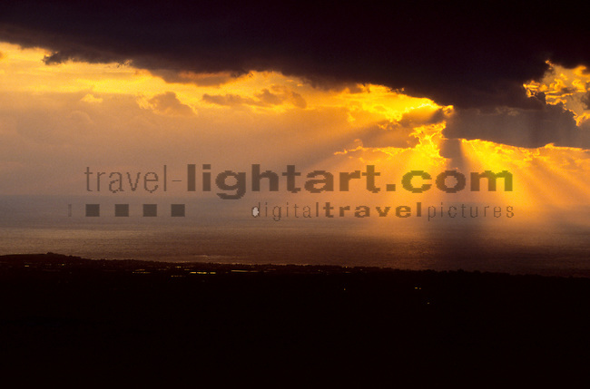 Sunset near Paphos, Cyprus, Zypern